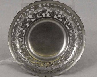 Chinese Export Sterling Silver Footed Dish, Hallmarked, Qing, Republic period, China,