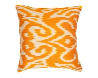 orange ikat ikat and