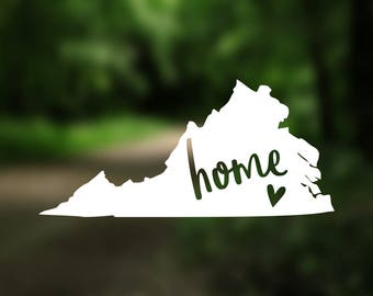 DECAL {Virginia State} State Car Decal | State Home Decal | State Love Decal | Virginia Decal | Vinyl Decal | Home State | Laptop Decal