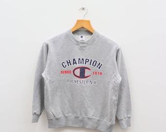 Vintage CHAMPION Sportswear Gray Pullover Sweater Sweatshirt Size 150