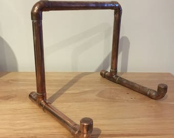 Copper recipe book stand, copper pipe, book stand, copper gift, industrial kitchen, recipe holder, kitchen stand, pipe