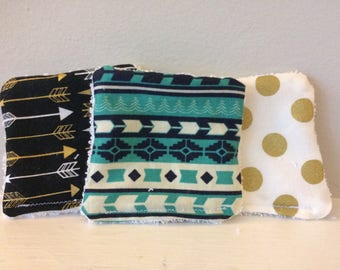 Reusable Makeup Remover Cloths (Aztec and Arrows)