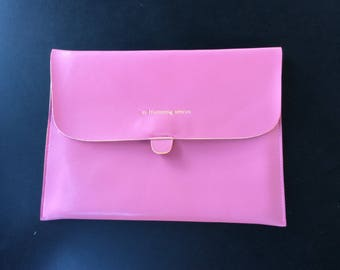 Pink M. Humming Leather Sleeve for Apple iPad (9.7in H) Protective Case/Cover/Pouch