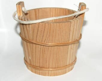 Wooden Bucket -  Soap making Supplies -- Cold process soap supplies - bath accessories