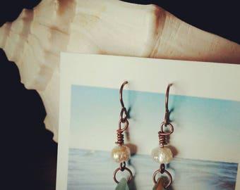 Fresh water pearl dangles