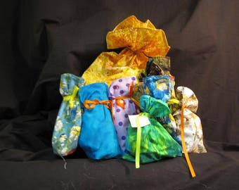 Cotton Reusable Gift Bags in small medium and large sizes
