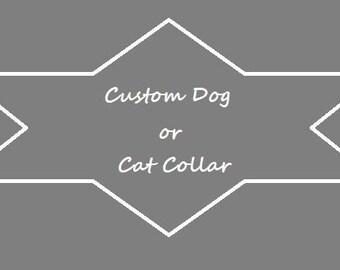 Custom Dog or Cat Collar