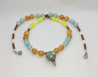 Summer Color Beaded Necklace
