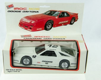 Vintage 1986 Iroc Racing Dodge Daytona 1/24 Scale Model Car