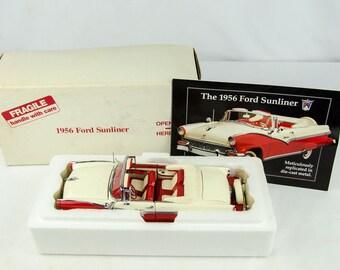 Rare Vintage Danbury Mint 1956 Ford Sunliner Convertible 1/24 Scale Diecast