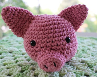 Piglet Lovey Security blanket 100% Cotton