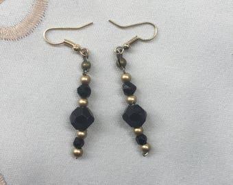 BO beads black and gold - series Irma No. 4