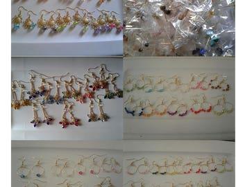 wholesale lot Earrings gold plated hooks, metal hooks, silver plated hooks, Plastic, jewelry (300 pairs) earrings lot, jewelry lot
