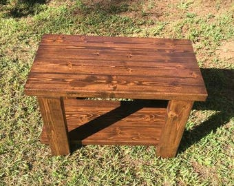 Vanity bench , storage bench , rustic bench , entryway bench , makeup bench , wood bench