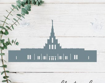 Phoenix, Arizona LDS Temple Cut File - Digital Download - SVG, Vector, Cricut, Silhouette, Clip Art