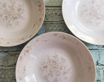 Retro China Bowls, Vintage Flower China Bowls, Old China Bowls