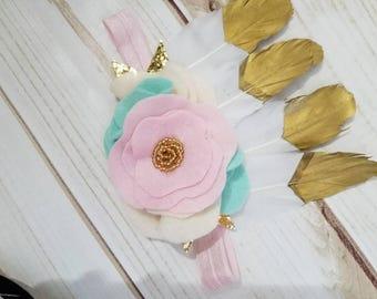 Wild One crown, birthday crown, rustic princess party, birthday headband, crown, pink & gold