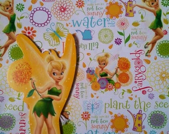 Tinkerbell Gift Wrapping Paper Fairy Fairies