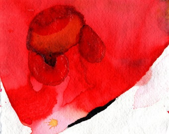 Blades. Lot of 5 prints Vaginas poppies. Polyptych. Abstract art