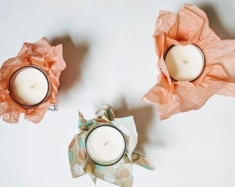 Gift Set of 3 Aromatherapy 4 oz Soy Candles
