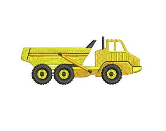 Dump Truck Construction Trucks Design Embroidery Fill Machine Instant Download Digital File EN2068F4