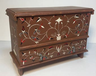 Miniature American Colonial Blanket Chest