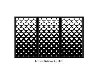 Artistic Steel Driveway Gate - Scale - Metal Wall Art - Handmade - Decorative Room Divider - Fence Panel