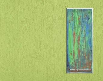 """Original painting, unique, Stilleben, acrylic on canvas, 20 cm x 50 cm, approx. 8 """"x 20"""", painting no. 205"""