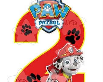 Look Who's  Paw Patrol Birthday Iron On Transfer , Digital Transfer , Digital Iron On  , DIY