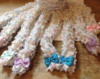 hand knitted pastel lace octopus decoration