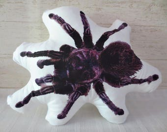 SPIDER PILLOW -High-Quality Cotton Printed Pillow,Tarantula,personalized pillow,pillow,custom pet pillow,animal pillow,personalized pet