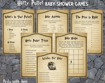 Harry Potter Baby Shower Games Activities, Wishes For Baby, Trivia, Bingo, Whats In Your Purse, Celebrity Baby Names, Printable
