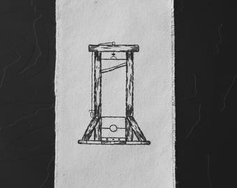 guillotine - hand embroidery