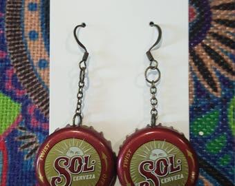 Sol Bottle Cap Earrings
