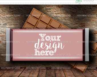 Candy Bar Wrapper, Candy Bar Label, Chocolate Bar Mockup, Chocolate Wrapper, Chocolate Bar Wrapper, Candy Bar Template, Candy Wrapper Mockup