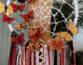 Gorgeous hand made butterfly dream catcher.