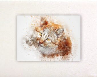 Cat - Watercolor prints, watercolor posters, nursery decor, nursery wall art, wall decor, wall prints 8 | Tropparoba 100% made in Italy