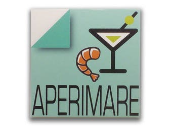 Aperimare - Sign, bar sign, italian sign, shop sign, restaurant sign, food sign, kitchen sign, pub sign | Tropparoba - 100% made in Italy