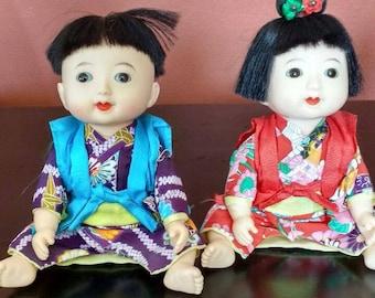 Vintage Plastic Japanese Dolls, Made in Japan