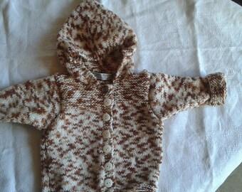 coat baby birth/1 month Brown Heather beige