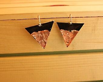 Triangle Vinyl Earrings