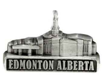Edmonton Alberta Temple Silver Pin - LDS Gifts