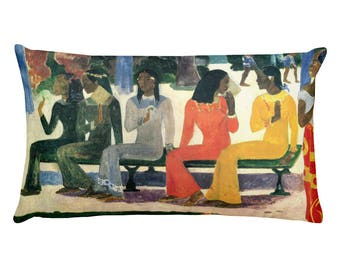 Paul Gauguin, The Market - Rectangular Pillow