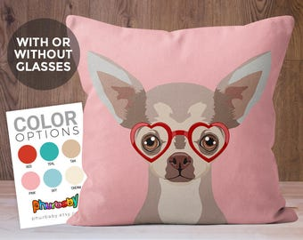 Chihuahua Pillow | Pet Pillow | Fiancé Gift | Dog Lover Gift | Stuffed Dog Pillow | Unique Throw Pillows | Gifts Under 30 | Best Friend Gift