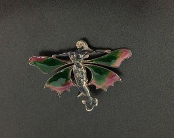Vintage Southwestern Tortoise Turtle Sterling Silver Pin Brooch