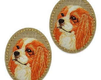 Expo Darling Dog Embroidered Iron-On Patch Applique 2 Pack