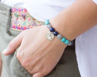 Sagittarius birthstone bracelet / Star constellation bracelet / Birthstone bracelet / Sagittarius bracelet / Turquoise bracelet