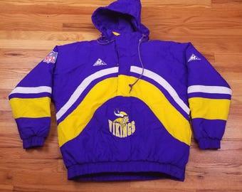 Vintage 90s Minnesota Vikings Apex Jacket Starter Size Large