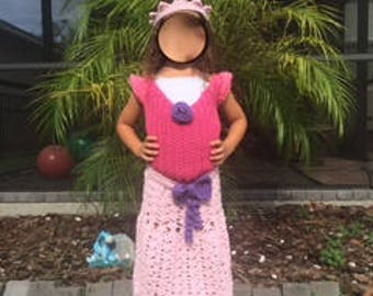 Princess Gown Dress Up Clothing - Princess Gown Pattern - child size