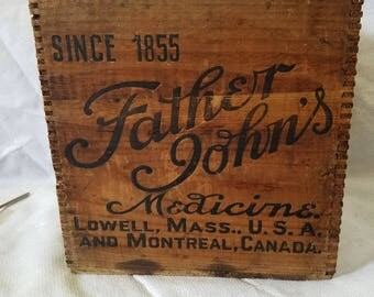 Father John's Medicine shipping crate